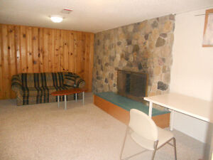 one  bedroom suite with one bathroom  in the basement for rent