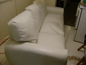 FREE WHITE LEATHER COUCH
