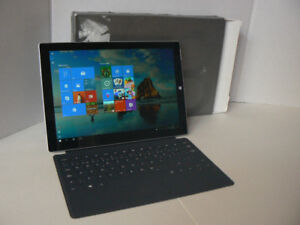 Surface Pro 3 Core i7 128ssd 8gbRam + Charger + Keyboard MINT