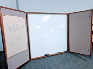 *Magnetic Whiteboard in Beautiful Solid Wood Cabinet*