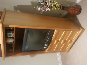 Solid Oak TV cabinet $55.00