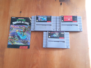 Snes games for sale Turtles in time Final Fantasy 2 R Type