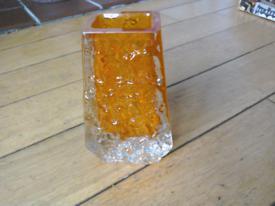 White friars Tangerine coffin vase.