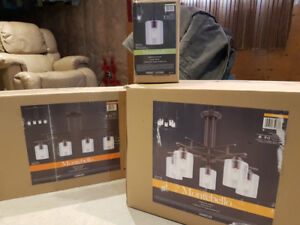3 Light Fixtures  for Dining Kitchen Island New in Box