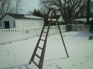 antique wood ladders