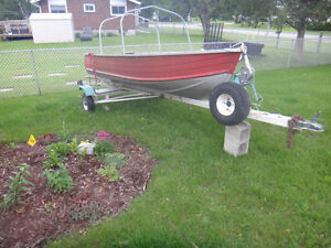 12' Aluminum Boat 9.9HP Johnson with trailer