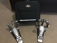 Pearl Double Bass Drum Pedal And DW Pedal Bag