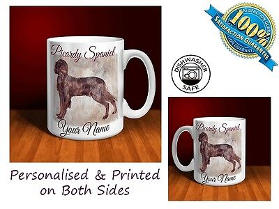 Picardy Spaniel Personalised Ceramic Mug: Perfect Gift. (D073)