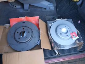 Audi a6 break discs set
