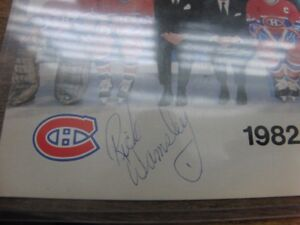 Signed Rick Wamsley Montreal Canadians Team picture Habs 1982-83