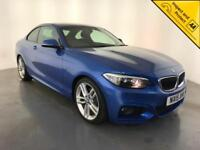 2015 BMW 220D M SPORT DIESEL AUTOMATIC COUPE 1 OWNER SERVICE HISTORY FINANCE PX