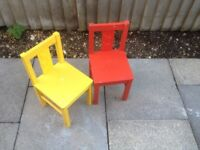 Pair of childrens chair