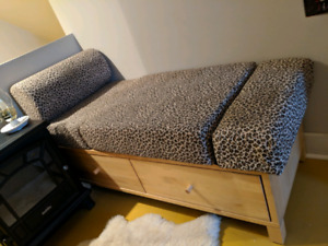 Bench with drawers and bed or chair