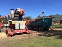 Portable grain cleaning