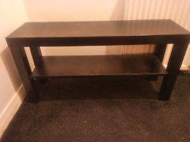 Black table and small table
