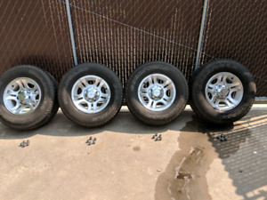 "2009 Ranger 15"" alloy rims and Goodyear Wrangler Tires"