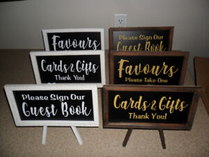 NEW! Easel Signs Wedding/Birthday/Baby Shower/Bridal Shower