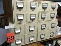 Vintage Library Card Catalogues
