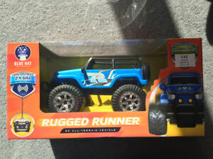 New in Box Blue Hat Rugged Runner RC vehicle