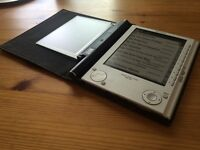 SONY PRS-505 eBook Reader & official light up leather case