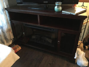 Tv stand/electric fireplace