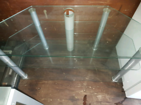 Clear Glass tv stand immaculate