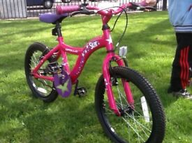 "Kids Bike - Apollo Star Single Speed Girls 18"" Wheel Mountain Bike"
