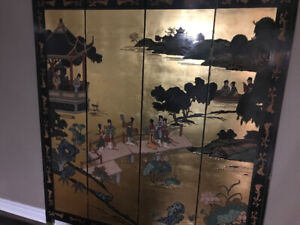 Room divider Oriental foldable dressing screen