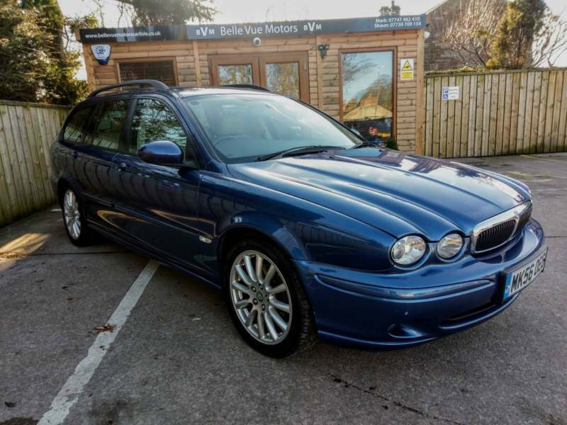 jaguar x type 2 0d s estate in blue in brampton cumbria. Black Bedroom Furniture Sets. Home Design Ideas