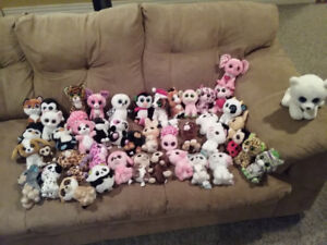 50 Beanie Boos, great condition. Not  played with, on shelves