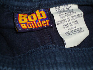 Boys Size 12 Months Bob the Builder Joggers Kingston Kingston Area image 3