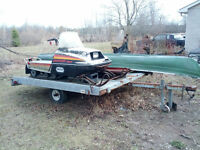 Two sled trailer and Snowmobile