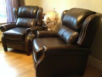 Pair of Leather Recliners