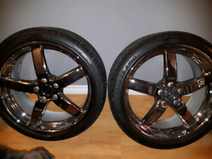 Set of 4 rims with brand new tires