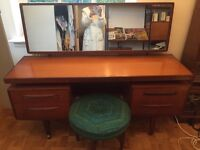 G plan dressing table and original stool