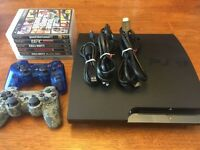 MINT PS3 - WITH 2 CONTROLLERS + 5 GAMES $270 OBO