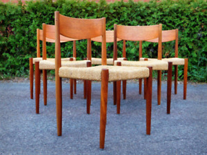 Vintage Midcentury Paul Bolted Dinning chairs