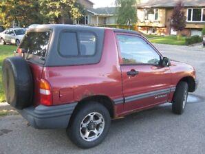 1999 Chevrolet Tracker Coupe (2 door)  $2500.00