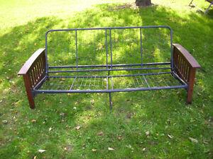 Futon, wood and metal frame London Ontario image 7