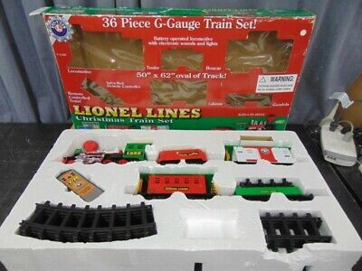 Lionel Lines Christmas Train Set 36 piece g scale train set