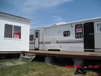 trailor in shediac at beausejour camp groung lot paid for season