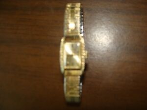 ladies gold plated seiko watch