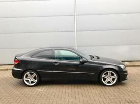 2008 58 Mercedes-Benz CLC 220 2.1TD CDI Sport Coupe - Black + leather
