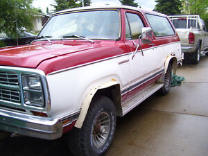 1980 Dodge Ramcharger.