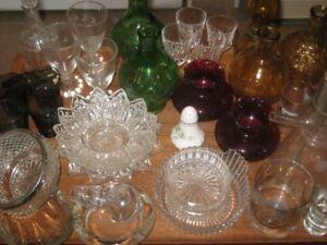 Various Glassware Lot -  $10.00