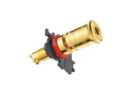 4 x WBT-0730.01 Polklemmen vergoldet pole terminals gold plated