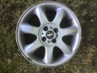 "BMW Mini mk1 and mk2 alloy wheel. 16"" rim"