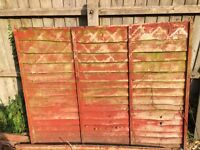 1 free fence panels and posts