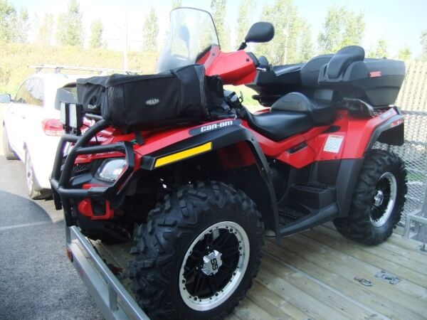 Used 2011 Bombardier outlander 650 max xt 2011 et remorque double rampe