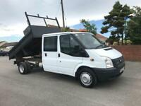 2012 12 FORD TRANSIT 100 T350 DOUBLE CAB 10FT TIPPER 1 CO OWNER FSH DIESEL